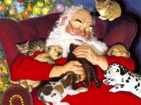 Dogs-and-Animals-Christmas-Santa-Claus-Wall....jpg